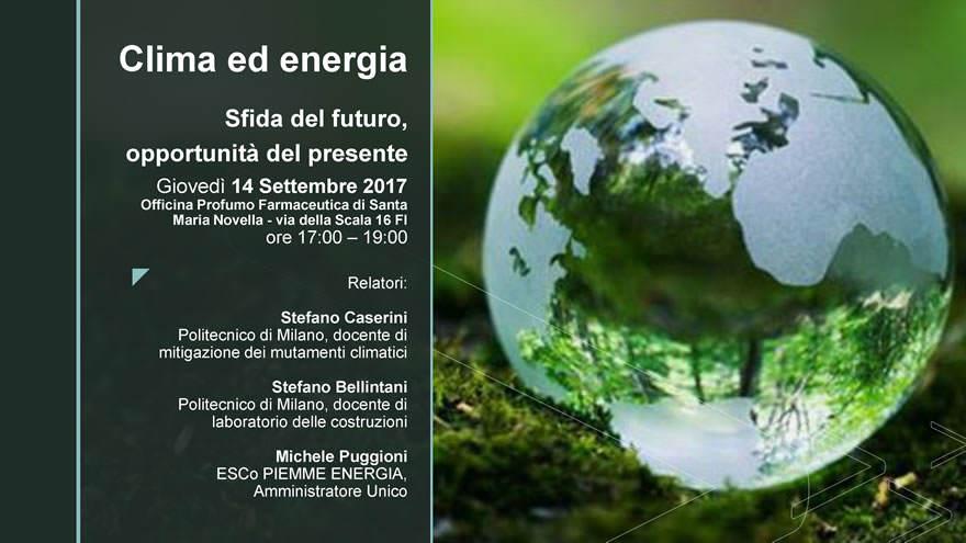 Un convegno su clima ed energia a Firenze